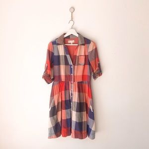Moulinette Soeurs Reed Plaid Shirtdress 6